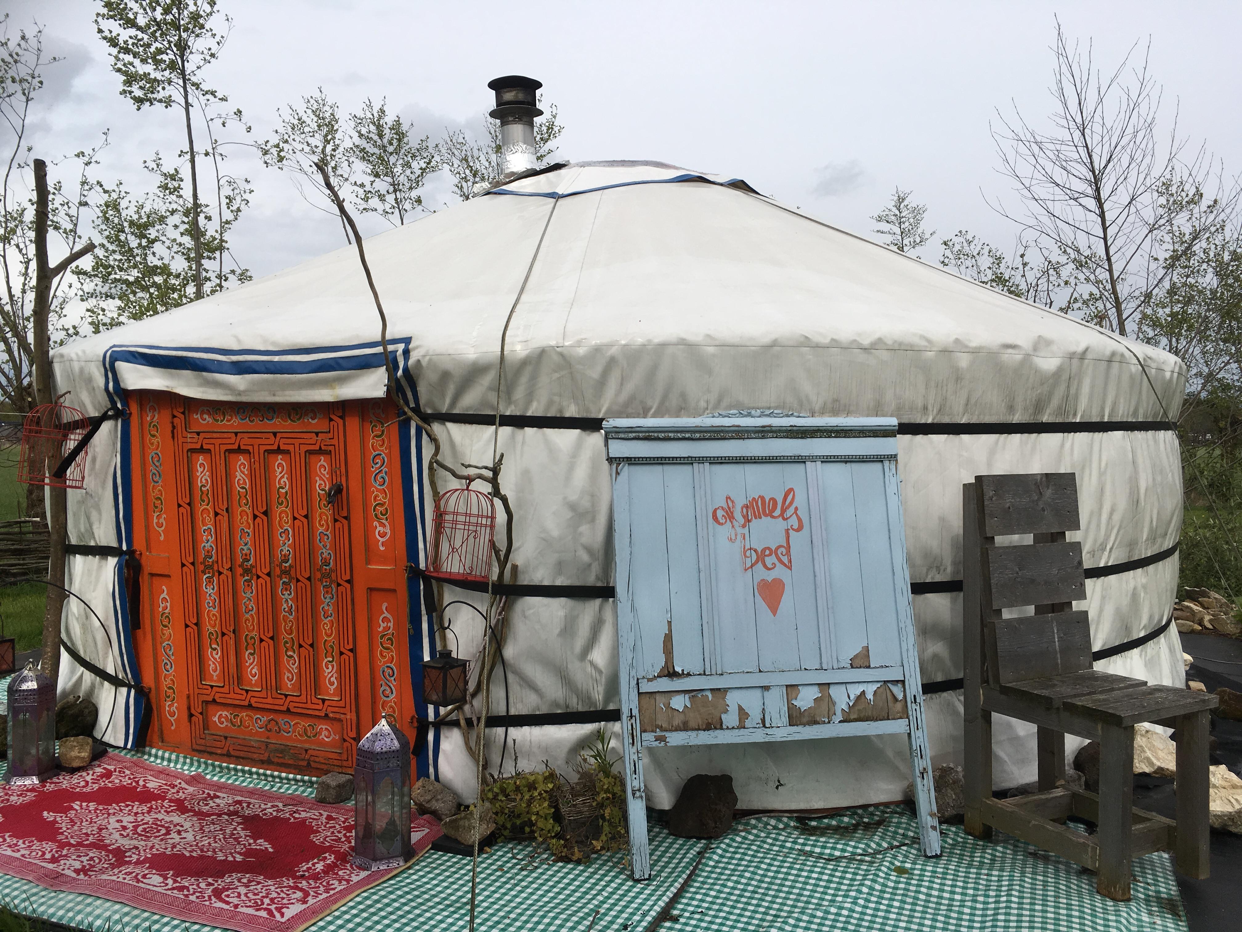Overnachten // Slapen in een yurt