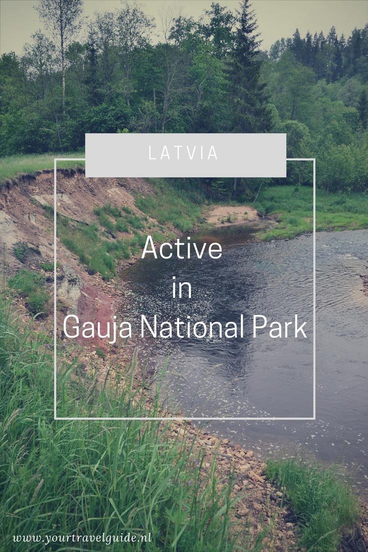 Actief in Gauja National Park Letland