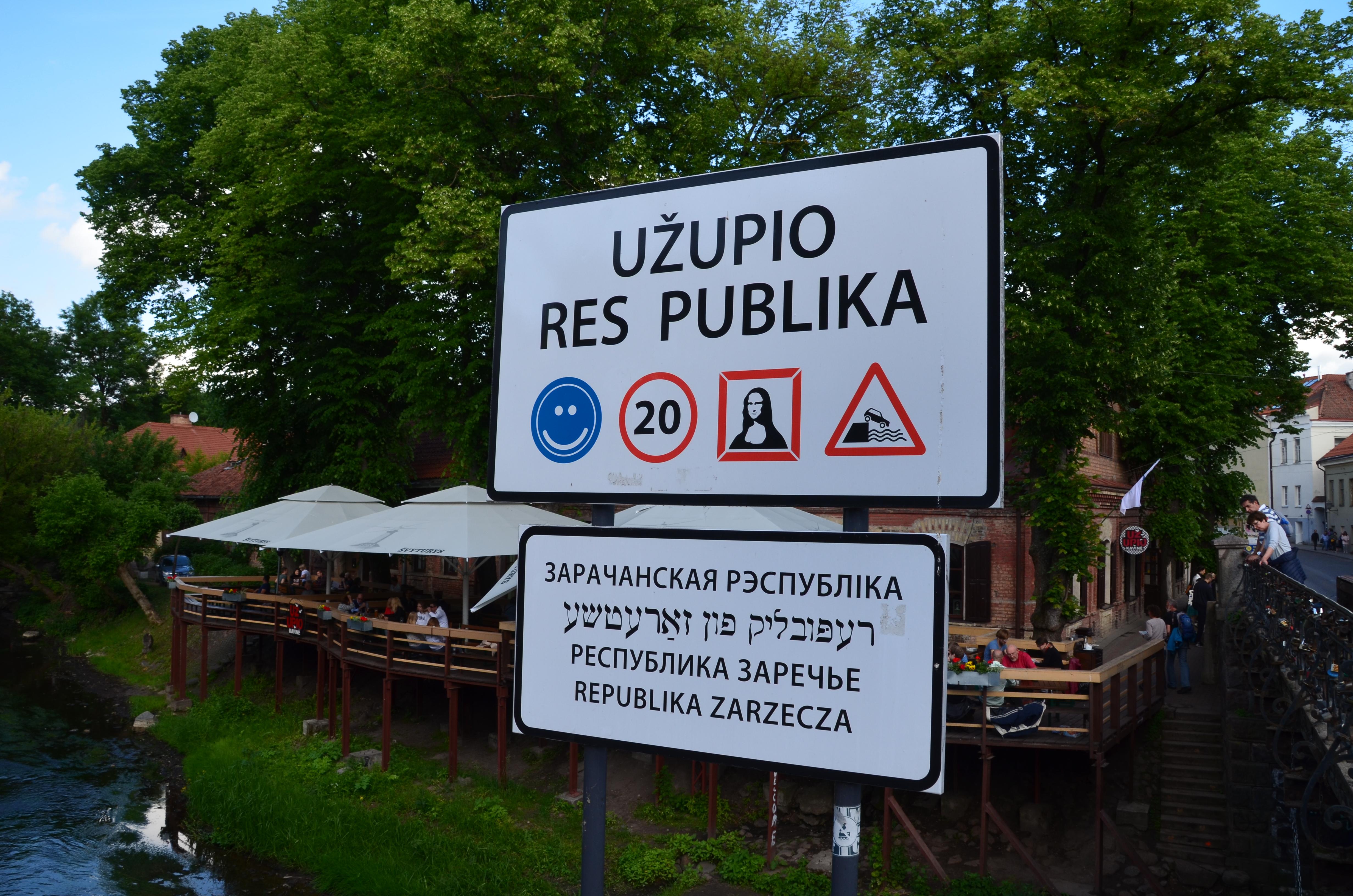 Uzupis, de stad binnen Vilnius