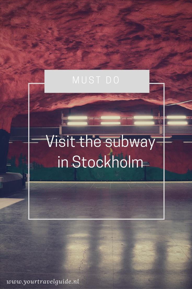 Must Do // Bezoek de prachtige metro stations in Stockholm