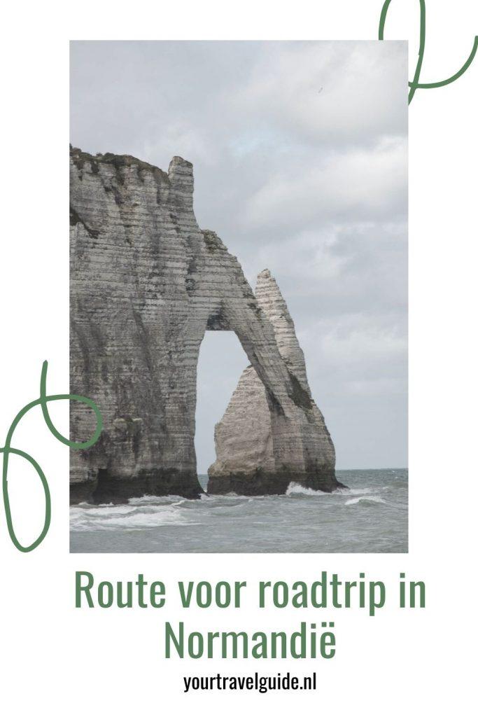 Route voor roadtrip in Normandië